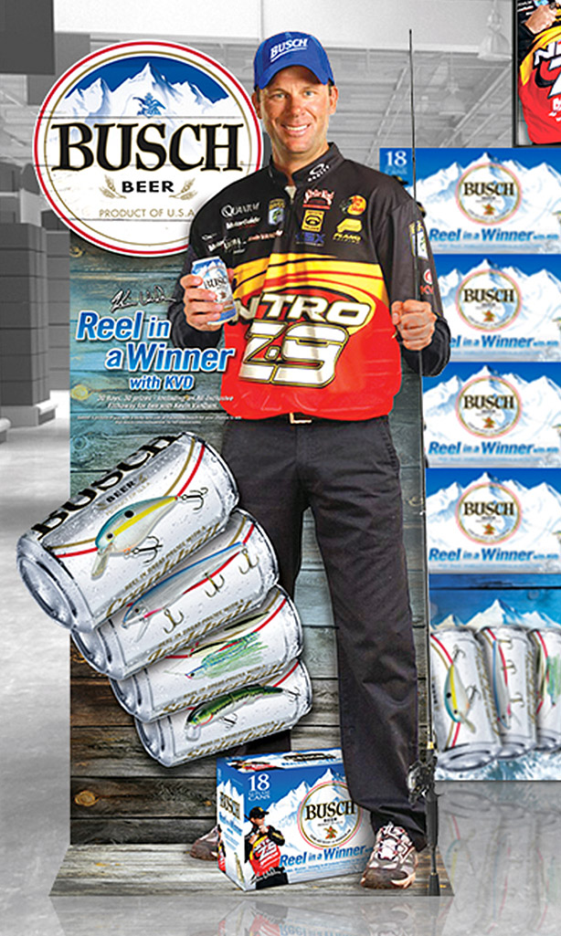 Busch Beer Reel in a Winner in-store merchandising