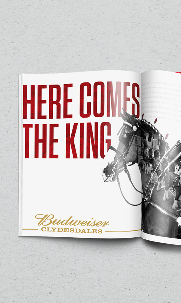 Here Comes the King Clydesdales Print