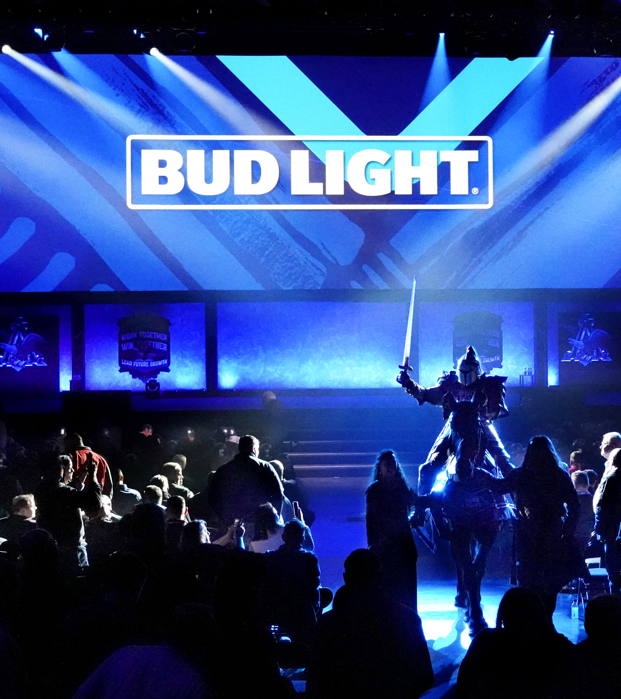 Bud Light Knight riding into ABInBev SAMCOM