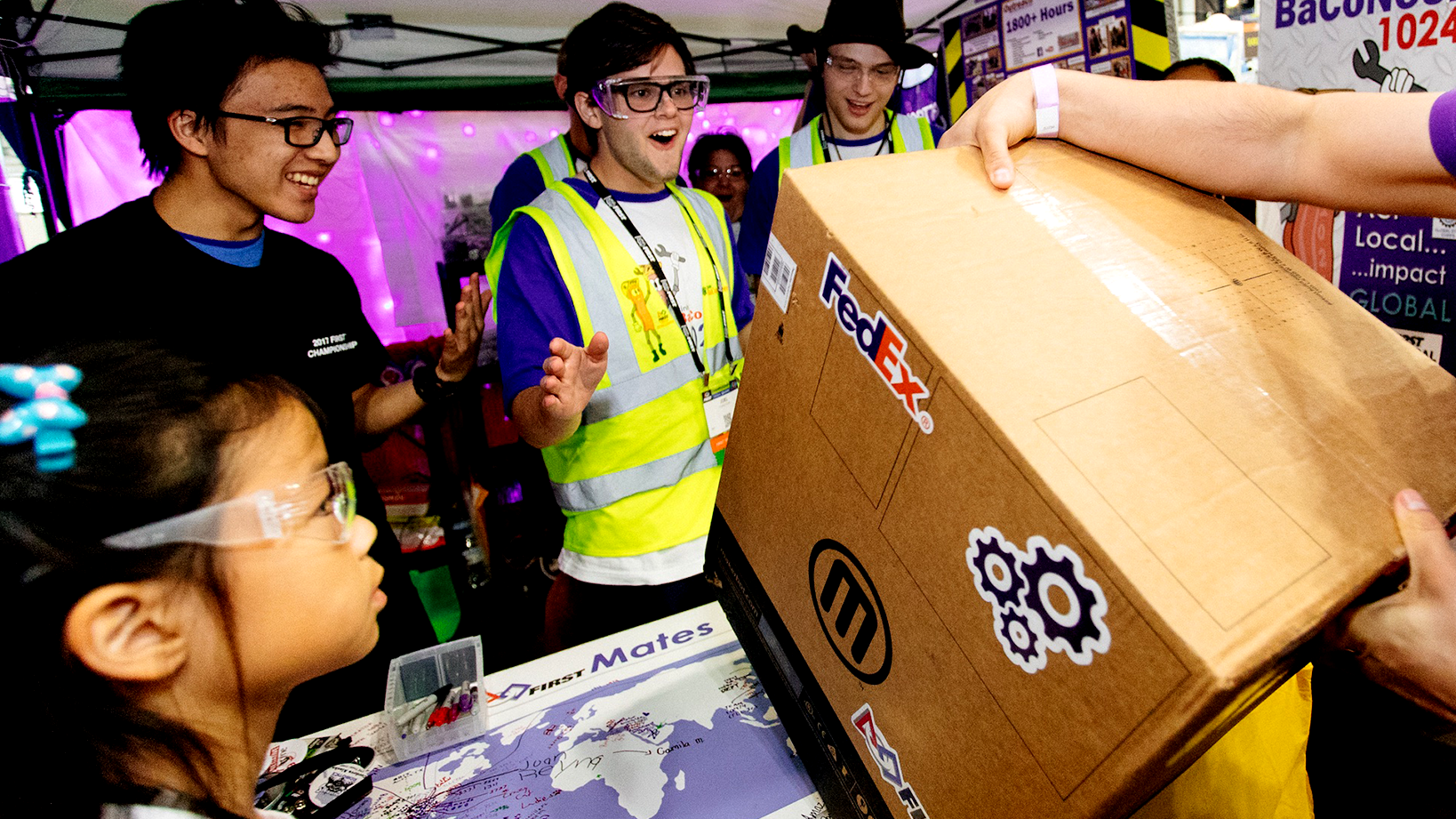 Man excited at FedEx Innovation Challenge