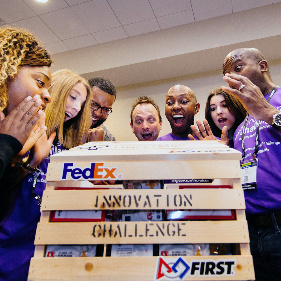 Team at FedEx Innovation Challenge