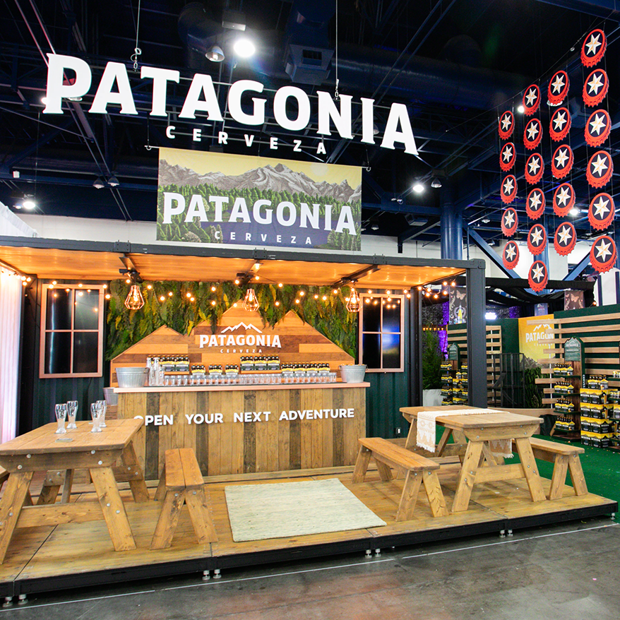 Patagonia Beer Trade show booth