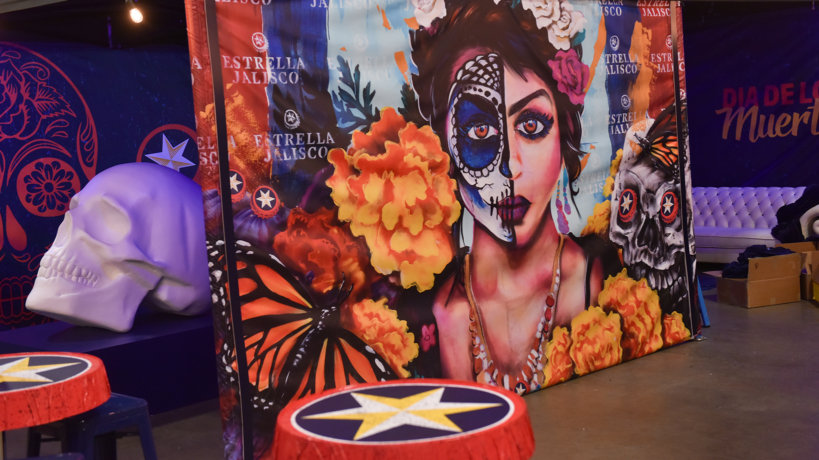 Estrella Jalisco Trade show booth