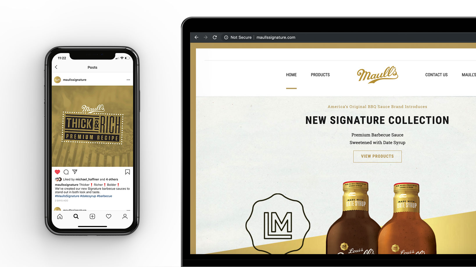 Maull's Signature website Design, social Media and product Launch