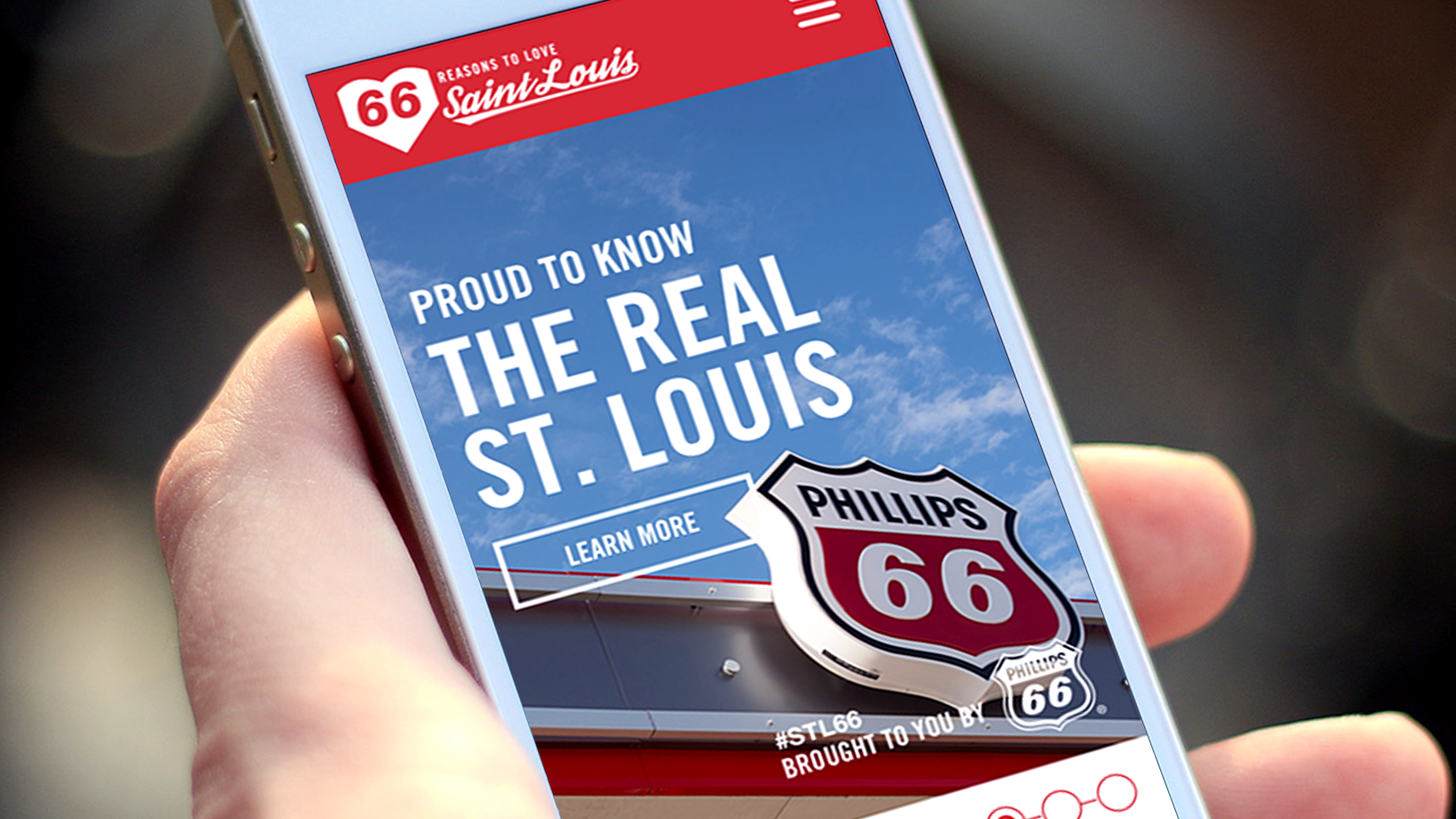 Phillips 66 content development, website and mobile design