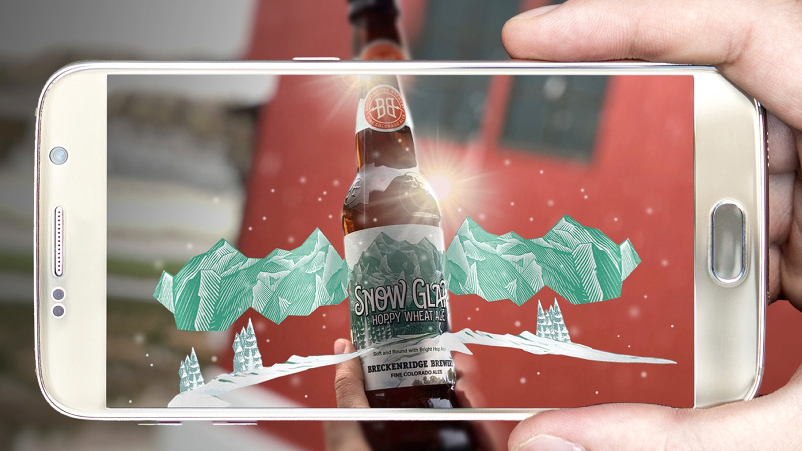 Breckenridge Brewery augmented reality bottle