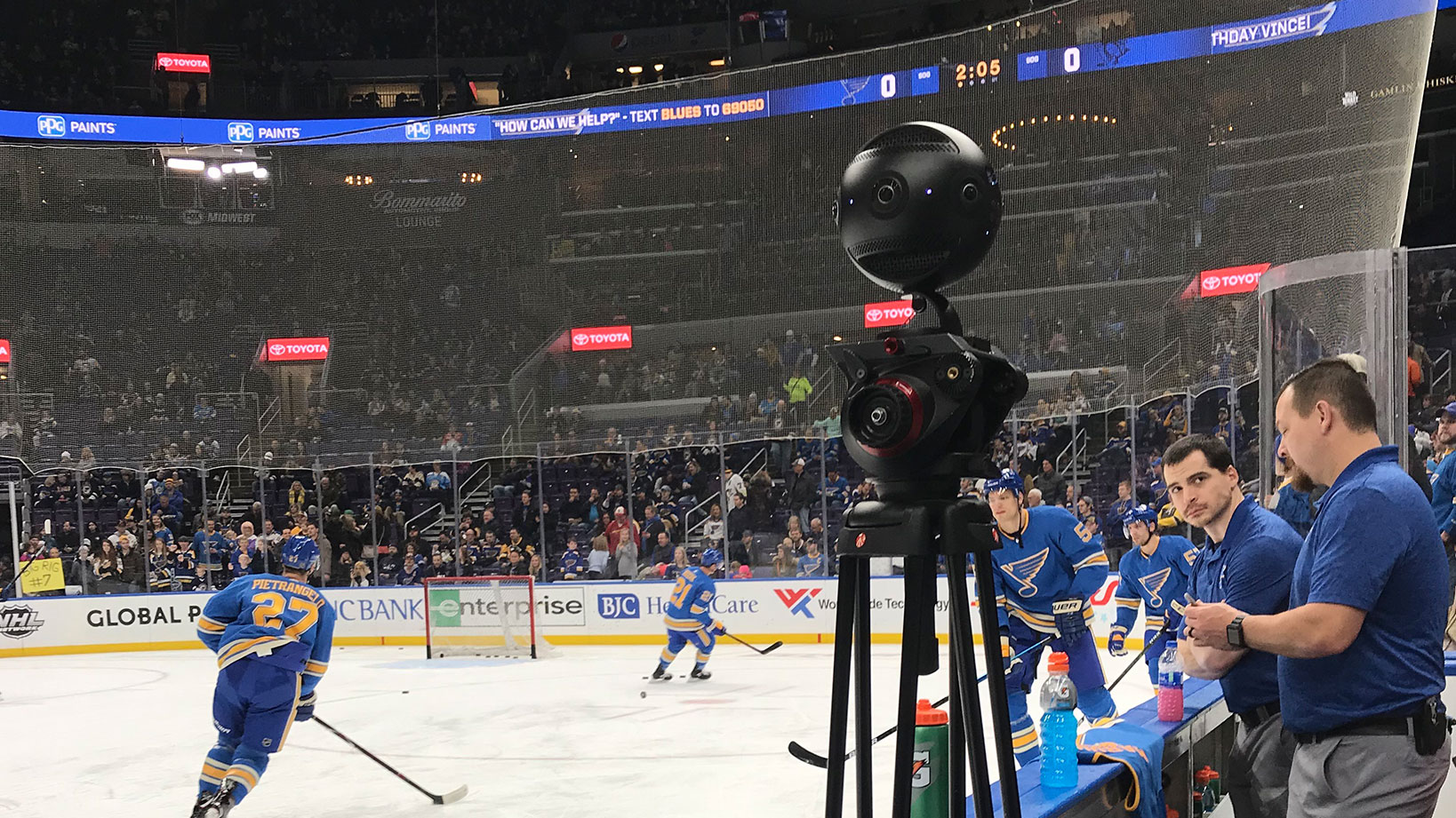 St. Louis Blues 360 virtual reality experience