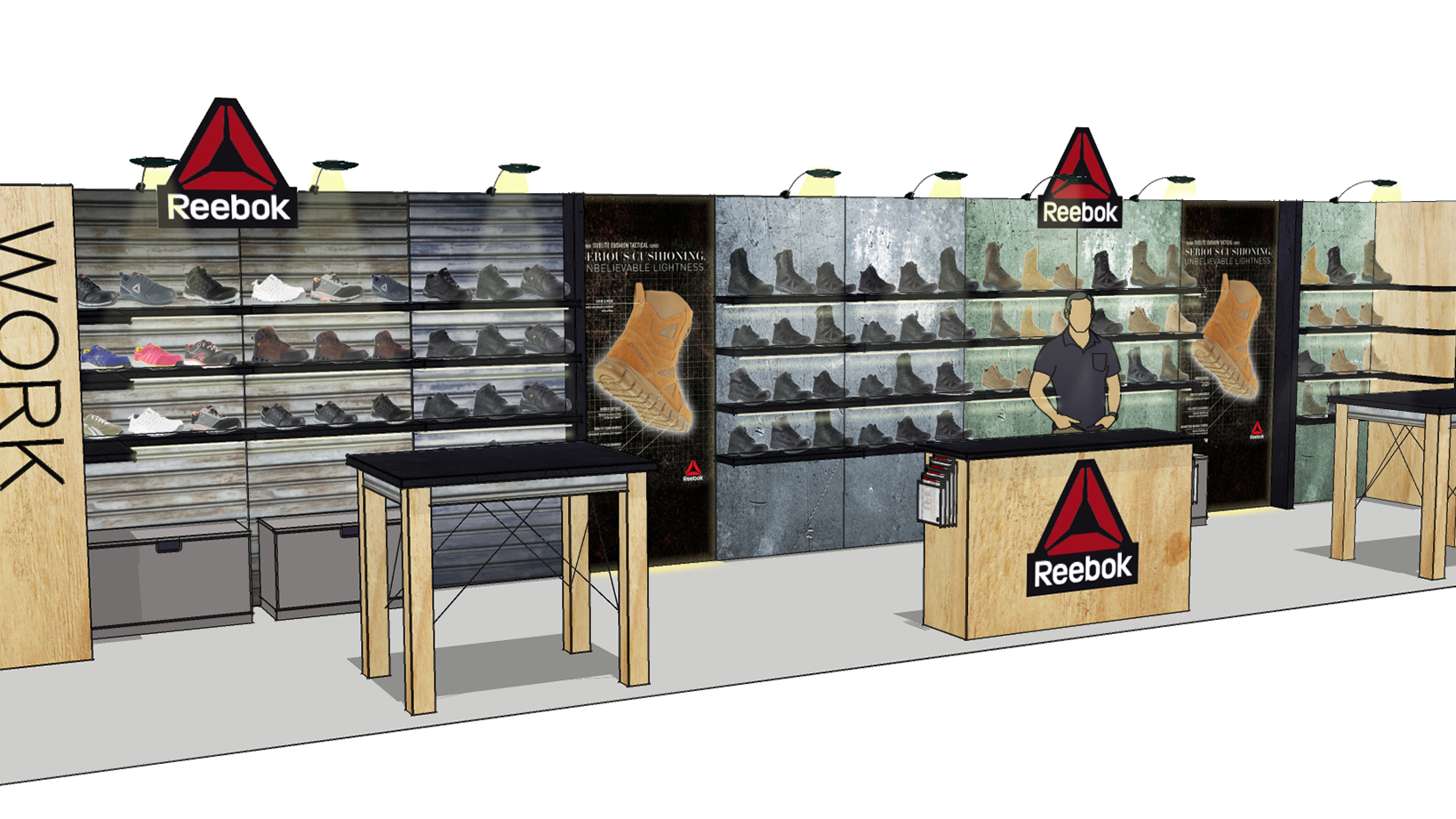 Reebok Warson Brands – Tradeshow Booth Design and 3D Renders