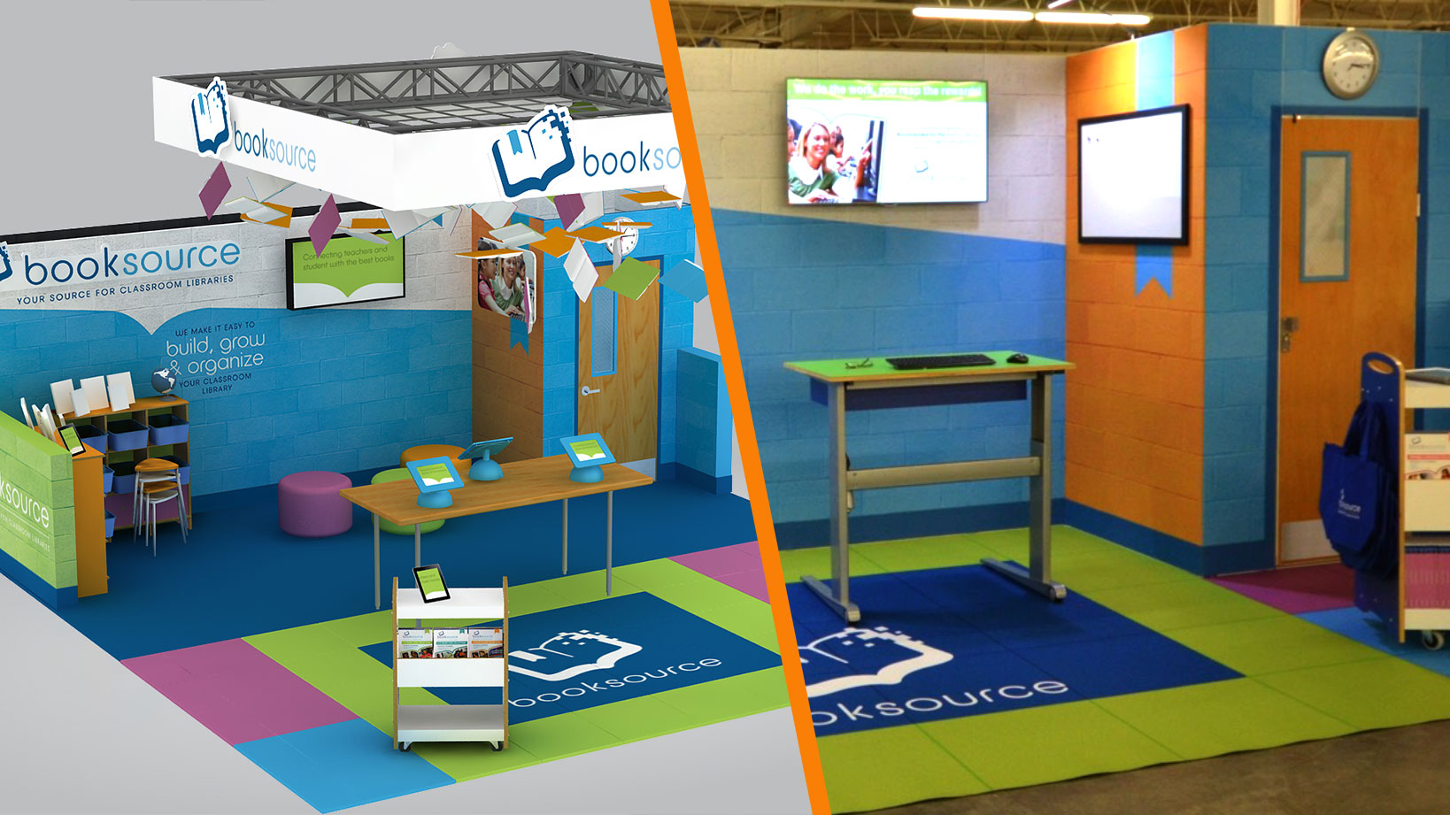 Booksource –Tradeshow Booth Design and Fabrication