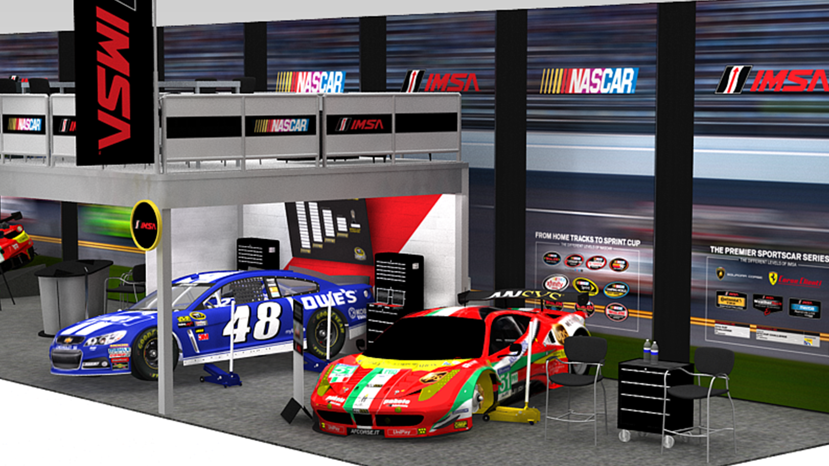 NASCAR Tradeshow Booth and Environmental Design