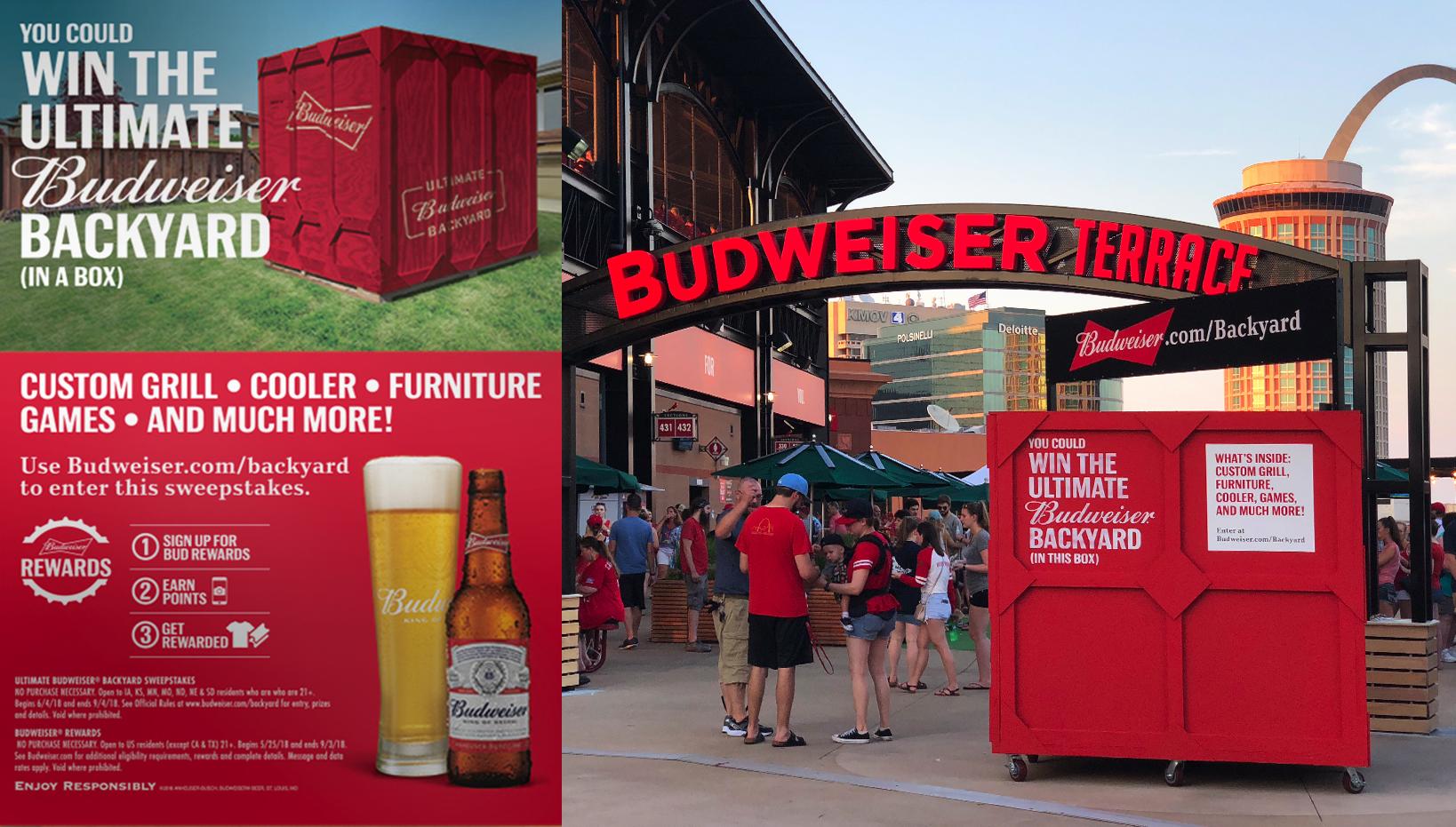 ABInBev Budweiser Backyard – Shopper Marketing, Sweepstakes, Rewards Program