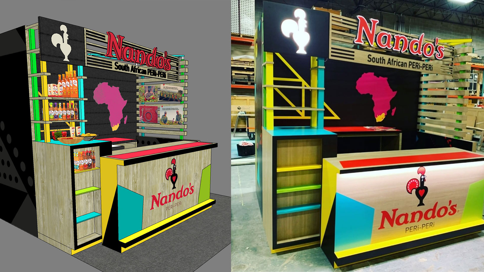 Nandos- Trade Show Booth Design, Fabrication, Large Format Printing