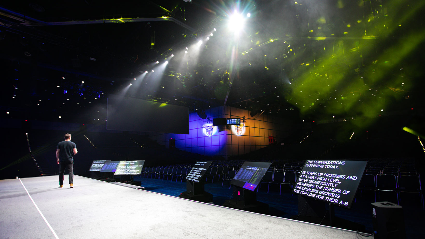 ABInBev SAMCOM Stage Design, Presentation Production and Graphics